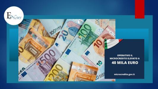 Cura italia: elevato importo massimo Microcredito