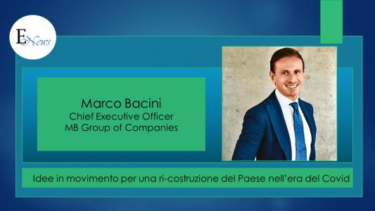 Marco Bacini: corriamo velocemente per ricostruire l'Italia